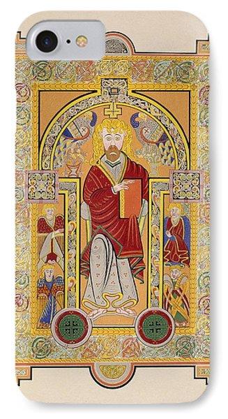 Saint Matthew, From A Facsimile Copy IPhone Case by Irish School