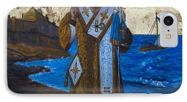 Saint Nicholas IPhone Case by Aleksandar Tesanovic