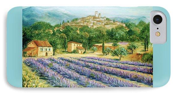 Saint Paul De Vence And Lavender Phone Case by Marilyn Dunlap