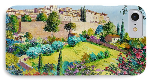 Saint Paul De Vence IPhone Case by Jean-Marc Janiaczyk