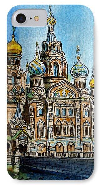 Saint Petersburg Russia The Church Of Our Savior On The Spilled Blood Phone Case by Irina Sztukowski