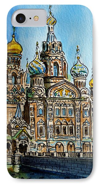 Saint Petersburg Russia The Church Of Our Savior On The Spilled Blood IPhone Case by Irina Sztukowski