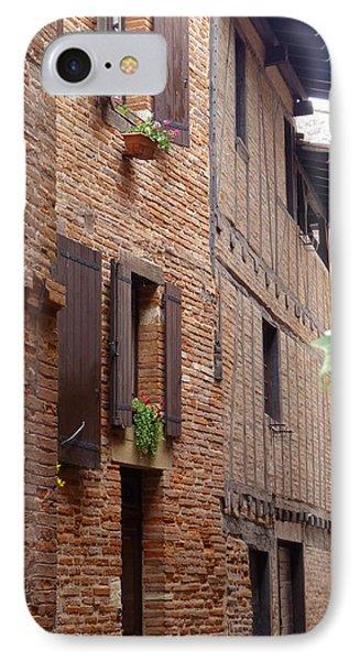 Saint-salvi Backstreet In Albi France IPhone Case by Susan Alvaro