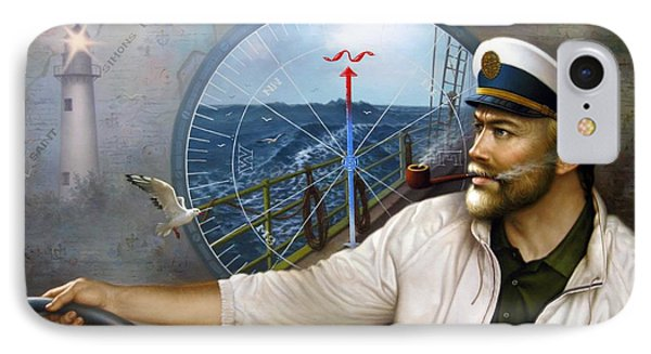 Saint Simons Island Map Captain 3 IPhone Case