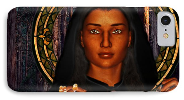 IPhone Case featuring the painting Saint Tekakwitha The Lily Of The Mohawks by Suzanne Silvir