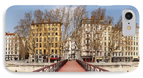 Saint Vincent Bridge Over The Saone IPhone Case by Panoramic Images