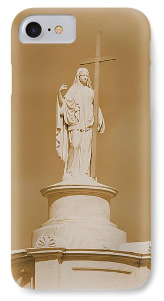 IPhone Case featuring the photograph Saint With A Cross by Nadalyn Larsen