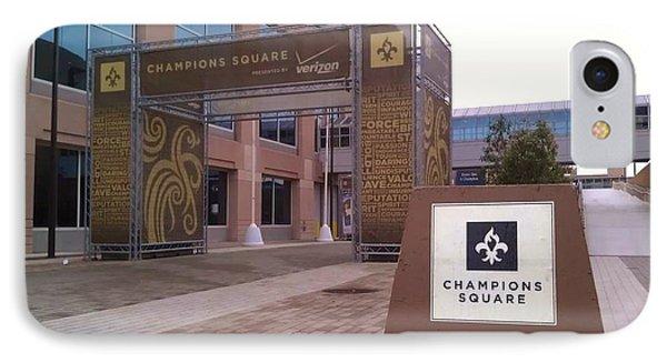 Saints - Champions Square - New Orleans La IPhone Case