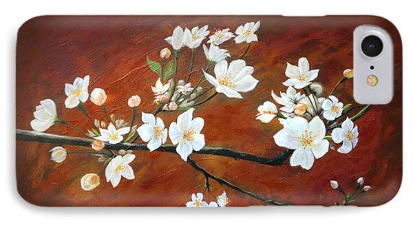 Sakura IPhone Case by Angel Ortiz