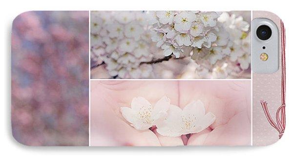 Sakura Triptych Phone Case by Lisa Knechtel
