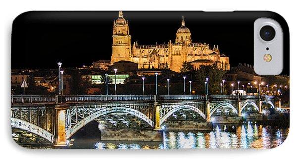 Salamanca At Night IPhone Case by JR Photography