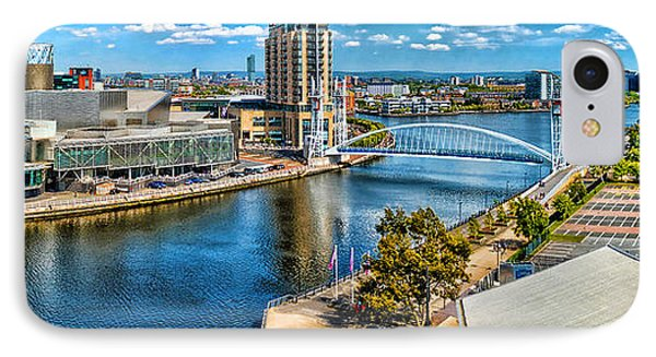 Salford Quays IPhone Case by Graham Hawcroft pixsellpix