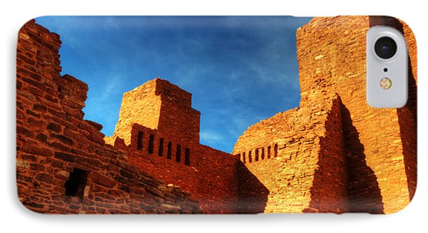 Salinas Pueblo Abo Mission Golden Light IPhone Case by Bob Christopher