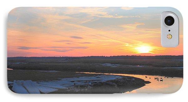 Salisbury Beach Late Winter Sunset IPhone Case by John Burk
