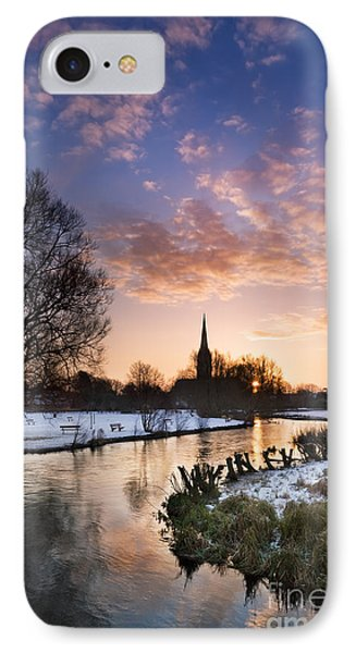 Salisbury Cathedral 1 IPhone Case by Rod McLean