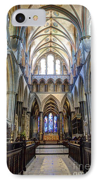 Salisbury Cathedral IPhone Case by Juli Scalzi