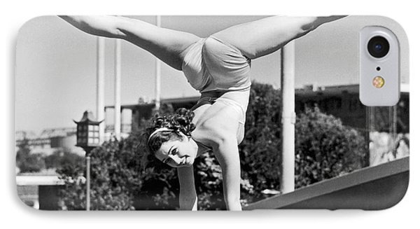 Sally Rand Combines A Hand Stand With The Splits IPhone Case by Underwood Archives