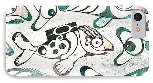 Salmon Boy The Swimmer IPhone Case by Melinda Dare Benfield