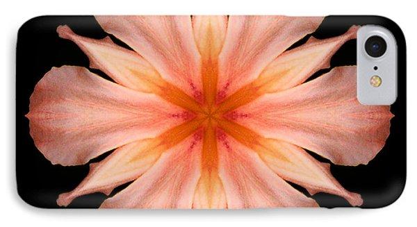 Salmon Daylily I Flower Mandala IPhone Case by David J Bookbinder