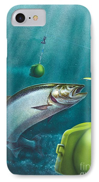 Salmon Dowrigger Phone Case by Jon Q  Wright