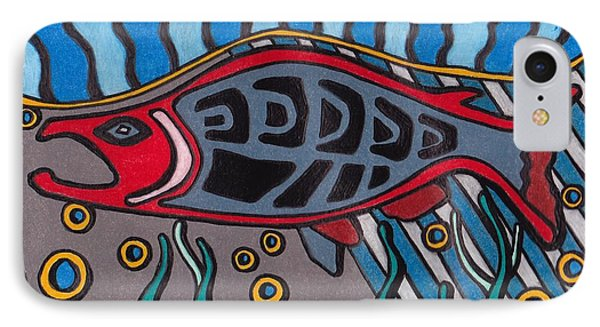 Salmon IPhone Case by Molly Williams