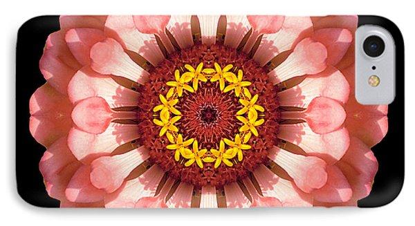 Salmon Zinnia Elegans Iv Flower Mandala IPhone Case