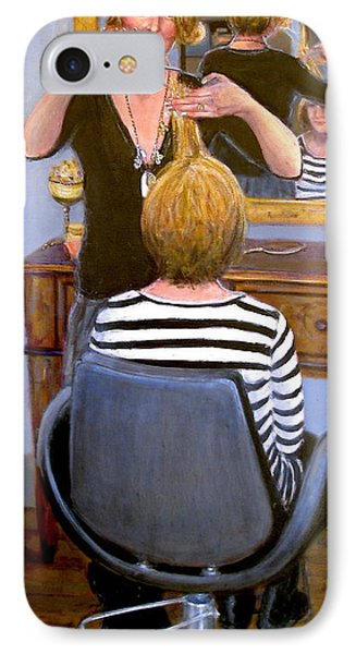 IPhone Case featuring the painting Salon #1 by Donelli  DiMaria
