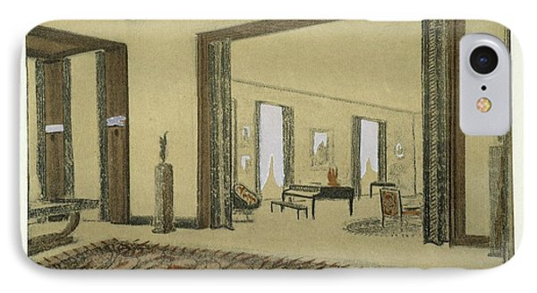 Salon, From Repertoire Of Modern Taste IPhone Case by Jacques-Emile Ruhlmann