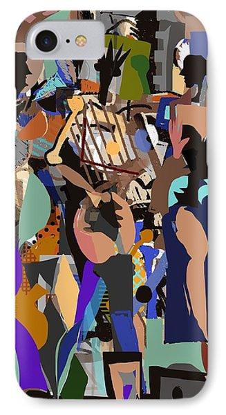 IPhone Case featuring the digital art Salsa Caliente by Clyde Semler