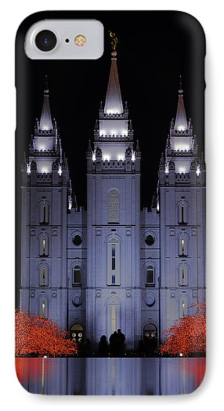 Salt Lake Christmas IPhone Case by Chad Dutson