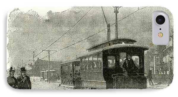 Salt Lake City An Electric Tramway By Overhead Connection IPhone Case by American School