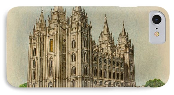 Salt Lake City Temple II IPhone Case