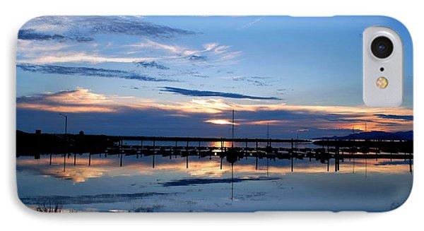 IPhone Case featuring the photograph Salt Lake Marina Sunset by Matt Harang