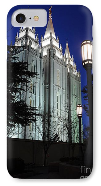Salt Lake Mormon Temple At Night Phone Case by Gary Whitton