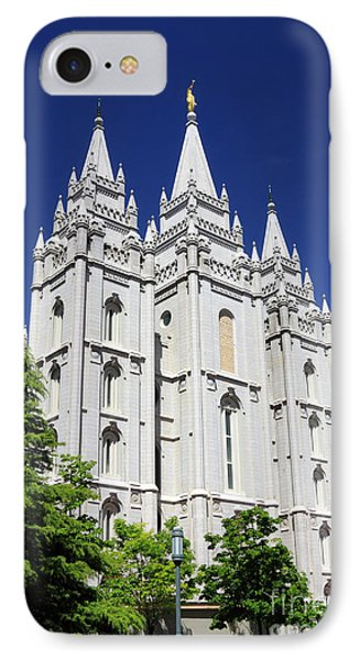 Salt Lake Mormon Temple Phone Case by Charline Xia