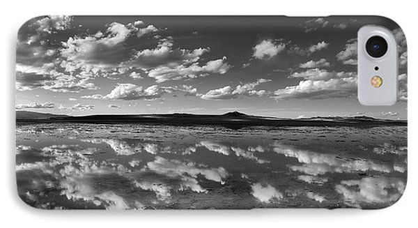 Salt Lake Reflections Black And White IPhone Case
