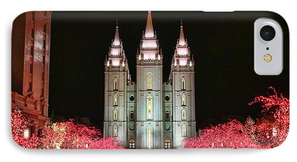 IPhone Case featuring the photograph Salt Lake Temple - 1 by Ely Arsha