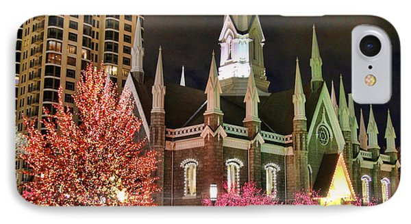 IPhone Case featuring the photograph Salt Lake Temple - 3 by Ely Arsha