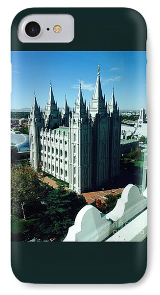 Salt Lake Temple The Church Of Jesus Christ Of Latter-day Saints The Mormons IPhone Case by Richard W Linford