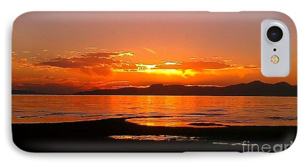 Salt Lakes A Fire IPhone Case by Chris Tarpening