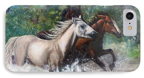 Salt River Horseplay Phone Case by Karen Kennedy Chatham