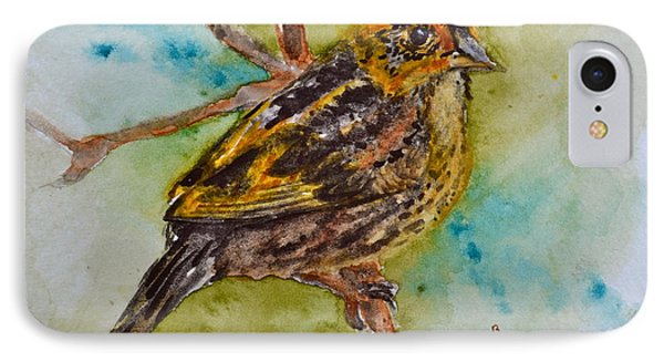 Saltmarsh Sparrow Phone Case by Beverley Harper Tinsley