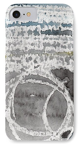 Saltwater- Abstract Painting IPhone Case by Linda Woods