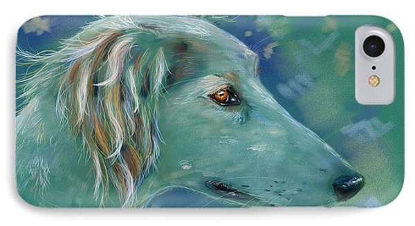 Saluki Dog Painting IPhone Case by Michelle Wrighton