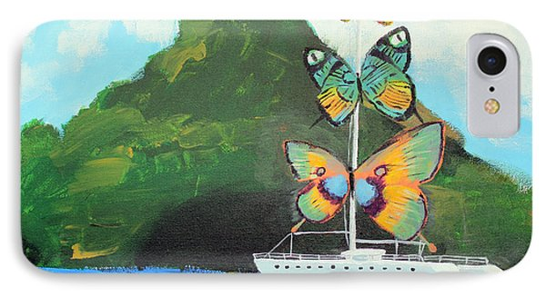 Salvador Dali Inspired Butterfly Catamaran Phone Case by Ethan Altshuler