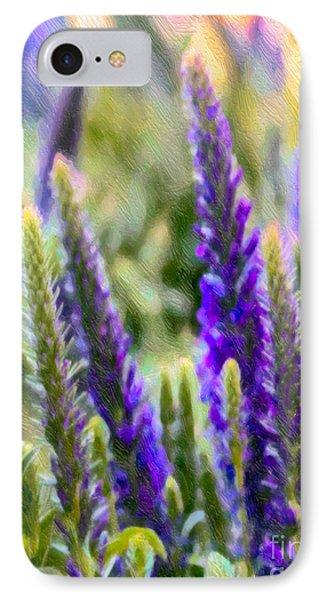Salvia Sway IPhone Case by Jean OKeeffe Macro Abundance Art
