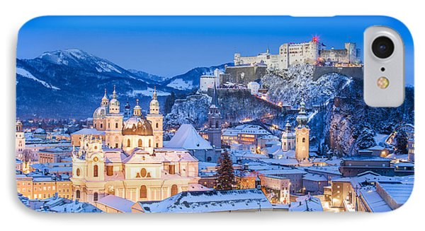 Salzburg In Winter IPhone Case by JR Photography