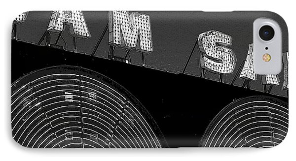Sam The Record Man At Night IPhone Case by Nina Silver