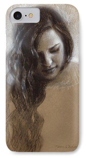 Samantha Sketch Phone Case by Karen Whitworth