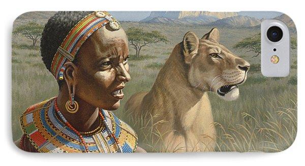 Samburu Watchers   IPhone Case by Paul Krapf